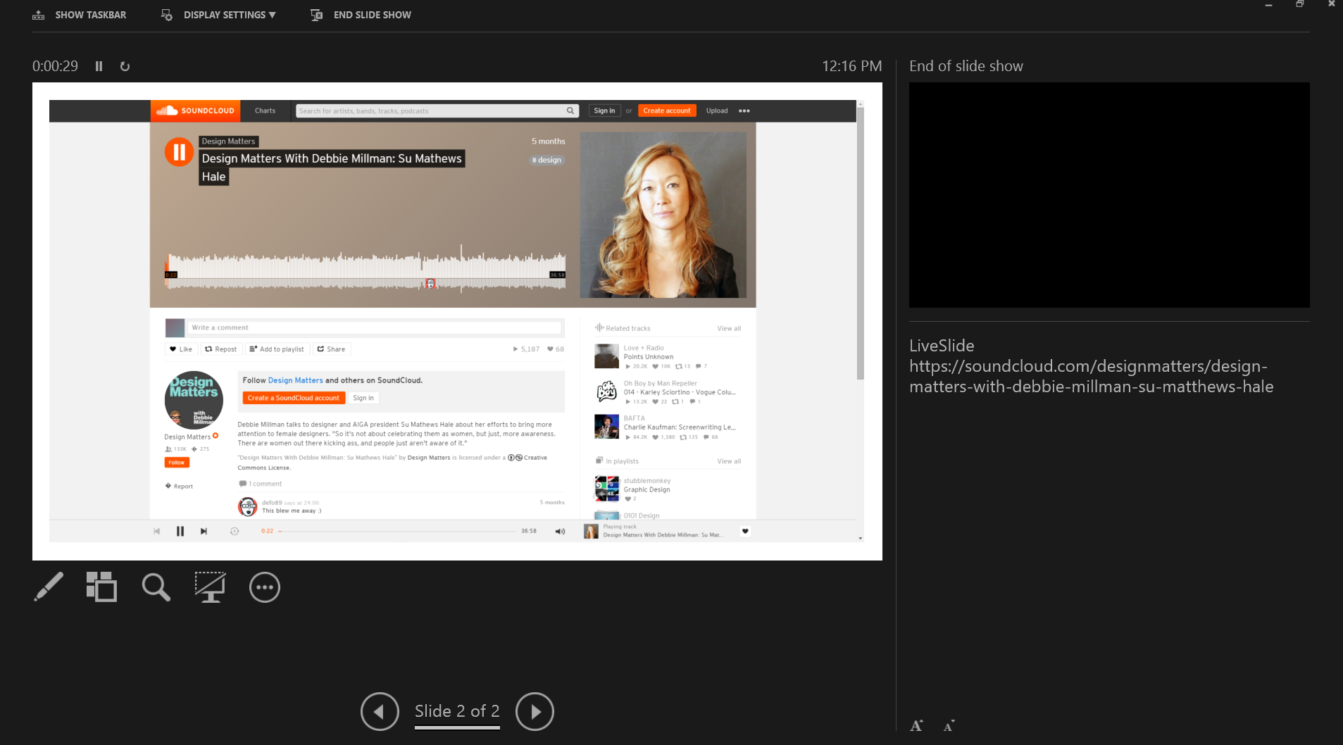 How to Embed Streaming Audio into your Presentations | LiveSlides