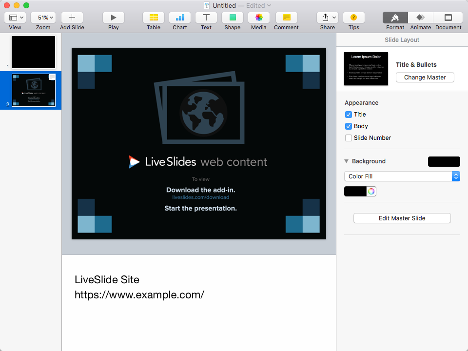 How to insert or embed Poll Everywhere into Keynote | LiveSlides